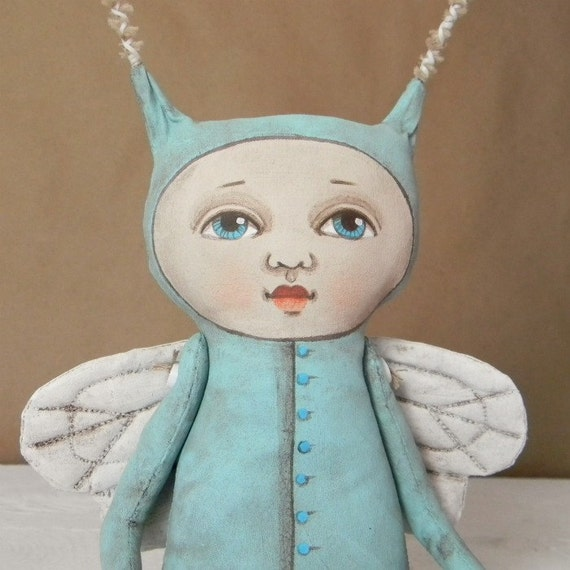 Fairy Monster Bug Original Hand Painted Folk Art Doll Sculpture OOAK