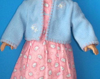 American Girl Doll Clothes - Springtime Dress and Jacket - Lambs