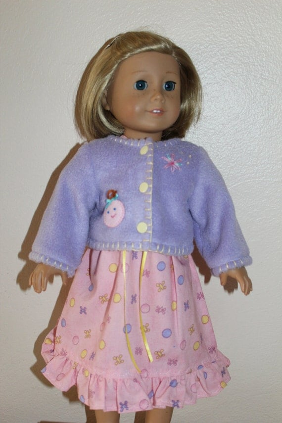 American Girl Doll Clothes - Dress and Jacket set for Springtime - Pink and Lavender
