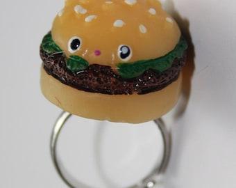 Beef Burger Kawaii Kitch Ring