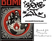 Art Bureau 14 and BOMB IT sticker pack (art zine & stickers)