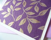 Shimmery Vines Folded Note Cards - Set of 8