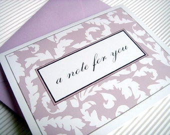 Dotted Frames and Wallpaper - Folded Note Cards - Set of 25