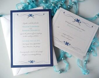 Simple Flourish Wedding Invitation
