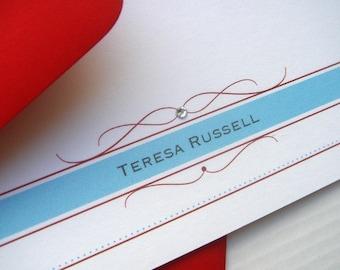 Flourish Band Flat Note Cards - Set of 25
