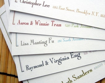 Double Border Flat Note Cards - Set of 12