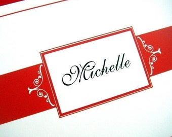 Personalized Folded Note Cards - Set of 12