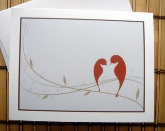 Love Birds Folded Note Cards - Set of 12
