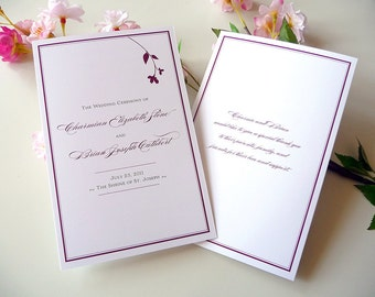 Sweet Branch Folded Wedding Programs