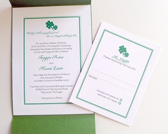 Shamrock Wedding Invitations