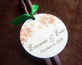 Amber Silhouette Wedding Favor Tags
