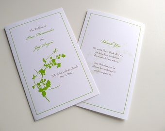 Cotton Blossoms Wedding Ceremony Programs