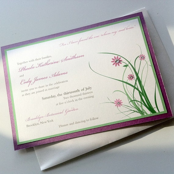 Floral Whimsy Wedding Invitation Set