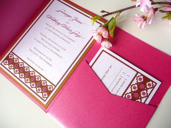 Moroccan-Inspired Pocketfold Wedding Invitation