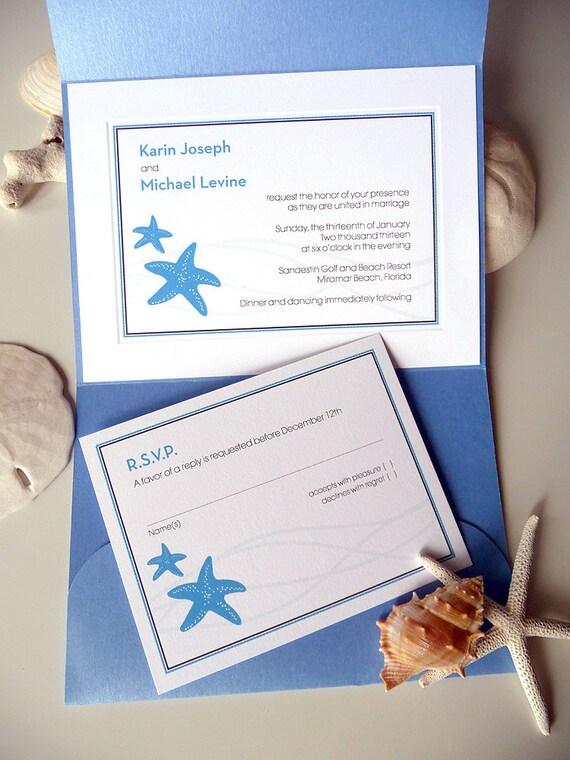 Starfish Duet Wedding Invitation