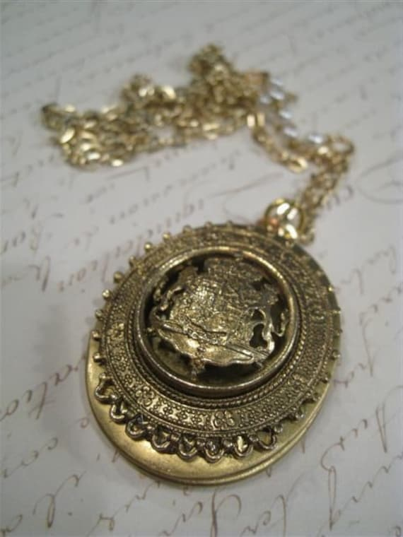 A Touch of Regality Reworked Vintage Locket Necklace