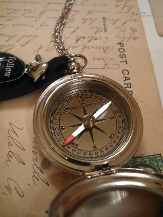 Compass Necklace Follow Your Heart