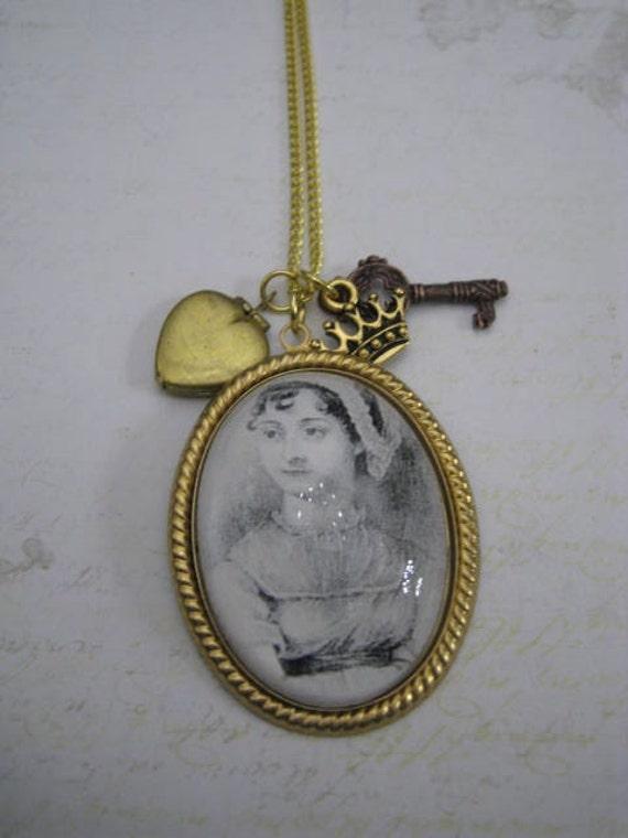 Jane Austen Portrait of Perfection Charmed Necklace