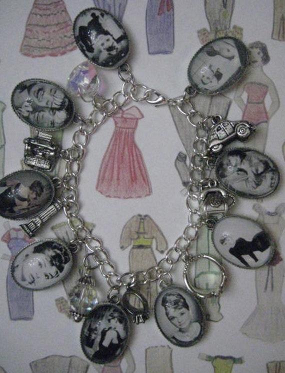 Breakfast at Tiffany's Silvery Charmed Bracelet