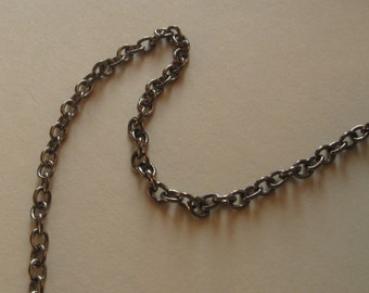 3 ft. Gunmetal finished brass medium round cable chain 3mm links