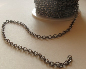 6 ft. Gunmetal finished brass medium round cable chain 3mm links