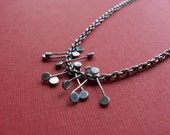Silver Fringe Paddle Necklace