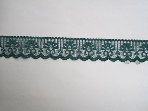 Special order for Hannah 25 Yards of Forest Green Lace Trim
