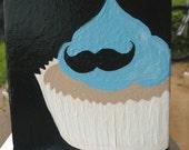 Mustache Cupcake Painting