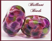 Aubergine- Purple Glass Beads, Different Shapes & Sizes Now Available, Spacer Pair, Lentil, Square Pair, Lampwork Beads SRA, Made To Order