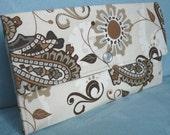 Ellie Wallet - Taupe Paisley