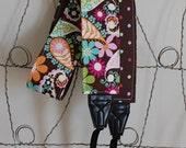 Camera Strap- Cosmo Floral and Mini Dot Reversable