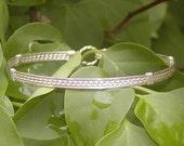 Pretty 4-Strand Sterling Silver Wire-Wrapped Bracelet