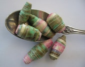 Italian Ice Eco Paper Beads Hand Rolled