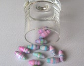 Eco  Mini Paper Beads Pastels Cotton Candy