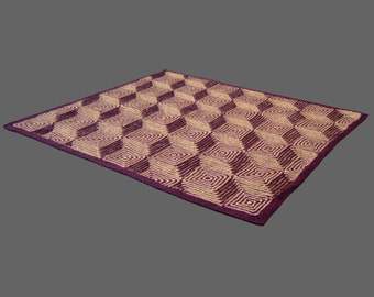 Step Up - PDF pattern for knitted afghan - Illusion knit