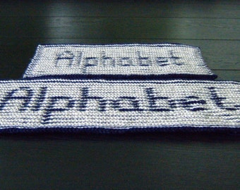 Illusion Knitting Alphabets - PDF pattern