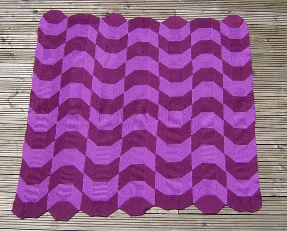 Making Waves - PDF pattern for knitted afghan