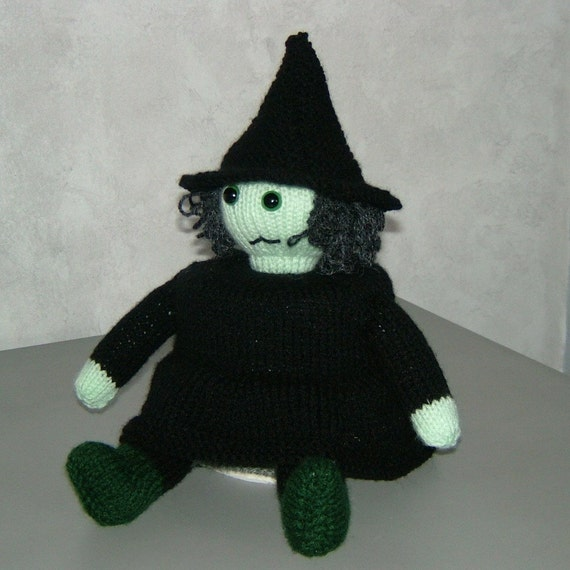 items similar to the wicked witch pdf knitting pattern