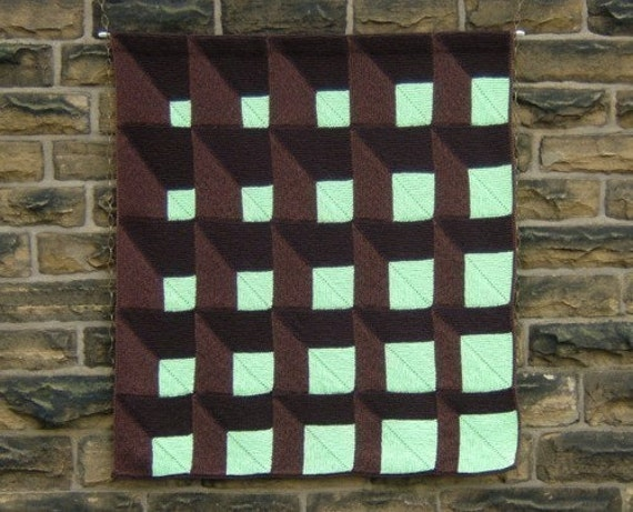 A New Angle - PDF pattern for knitted afghan or wall-hanging