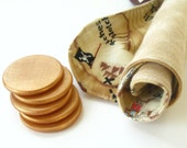 Cloth Treasure Map & Wooden Gold Coins - Gift Set for Little Pirates and Backyard Adventures - Great for Party Favors