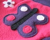 Embellished Fleece Cloth Diaper Cover / Soaker - Size Medium - Spring Time