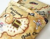 Set of 2 Bean Bags - Sensory Toy / Game / Party Favors -  Treasure Map