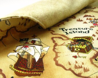 MINI Cloth Treasure Map - Fabric Pirate Map - Pretend Play - Pirate Party Favor - Pirate Costume Accessory - Ecofriendly Toy - Gift Idea