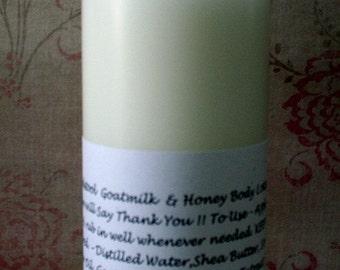 Body Lotion Jasmine Vanilla by Toadstool Soaps Light Creamy Goatmilk Aloe Vera Honey