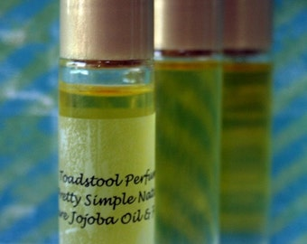 Perfume Oil Blue Lilac Organic Jojoba Oil Roll On Body Oil by Toadstool Soaps