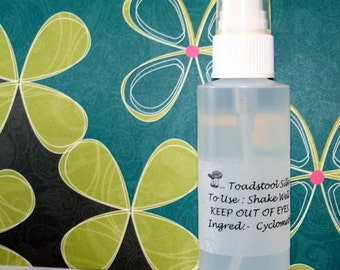 Body Splash Mini Skirt Body Spray Dry Oil Silky Feeling Perfumed Spray by Toadstool Soaps