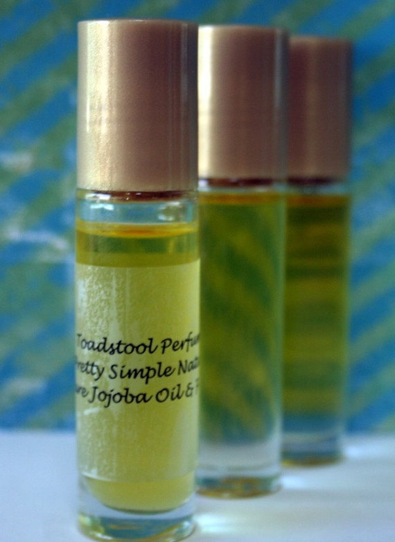 Perfume Baby Powder Perfume Oil Certified Organic Jojoba Oil Roll On Body Oil by Toadstool Soaps
