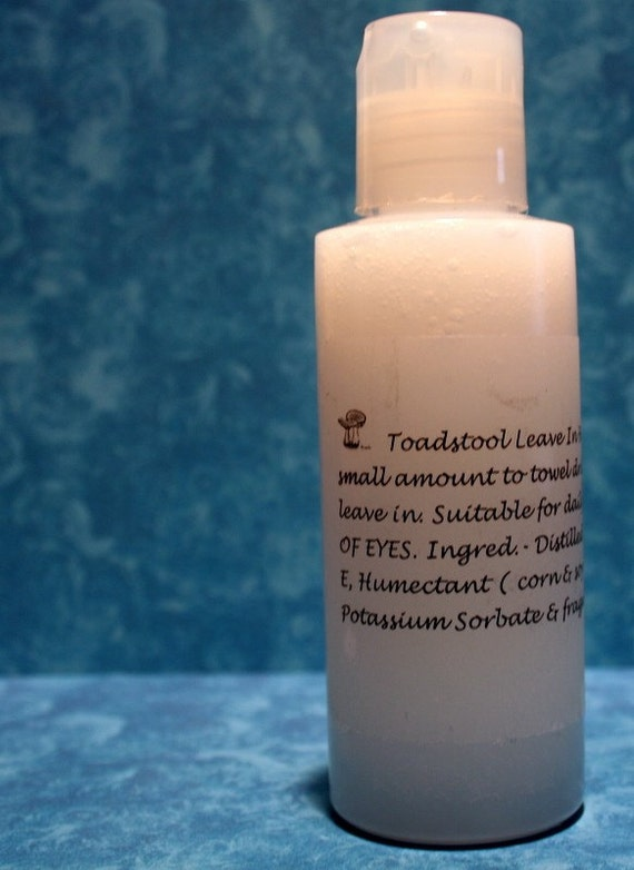 Hair Conditioner Leave In Travel Size 3 Ounces You Choose the Scent by Toadstool Soaps