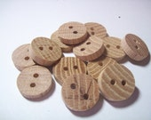 wood buttons, oak, rustic, unfinished, natural- 3/4 inch