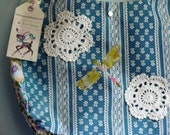 Whimsical Granny Chic Doily Dragonfly Purse OOAK on Sale
